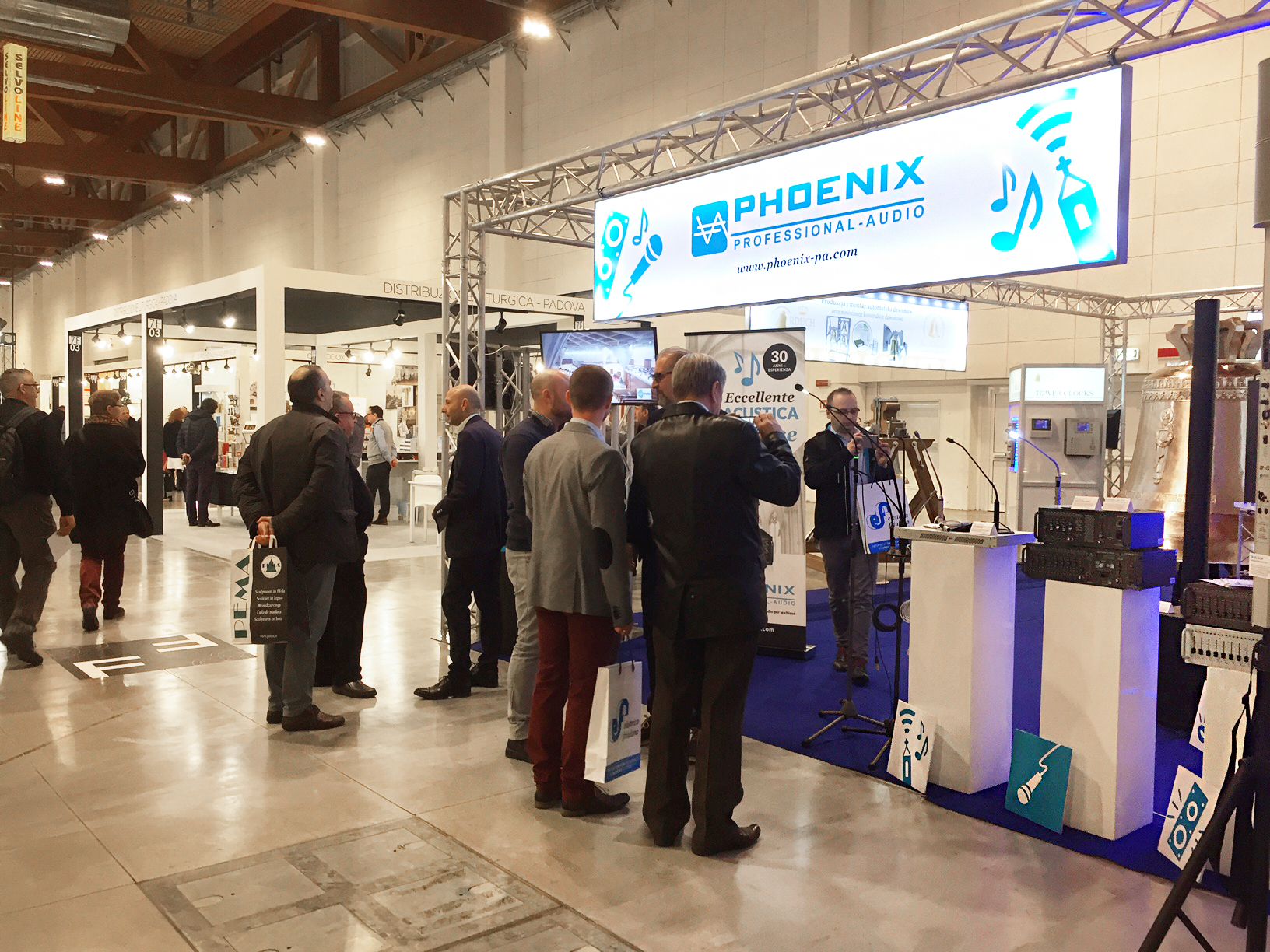 Phoenix at the church fair Koin¨ 2017 in Vicenza Italy