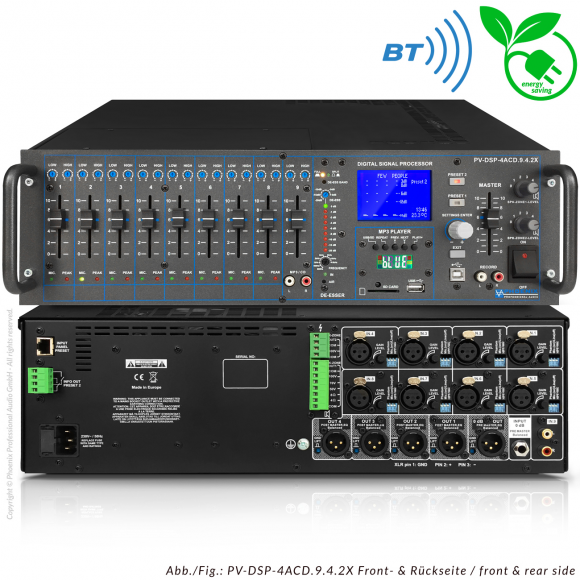 Digital DSP Automatic Mixer Amplifier