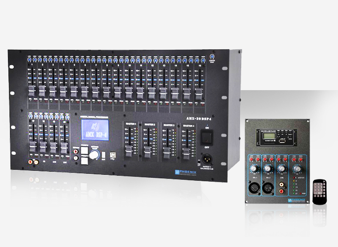 Pre-amplifiers for professional sound reinforcement   Phoenix PA